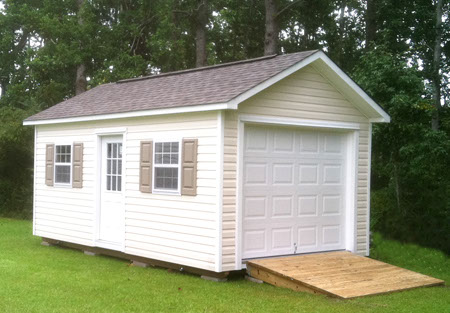Custom shed idea gallery the shed depot of nc for 10 x 8 garage door home depot