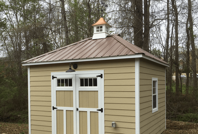 custom shed with metal roof